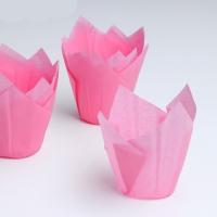 Бумажная капсула Тюльпан розовый 10 шт