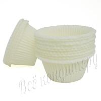 Форма для капкейков белая маффин 50х35 100 шт