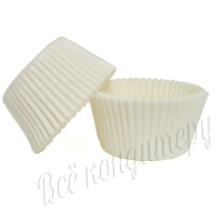 Форма выпечки капкейков белая  50х30 100 шт