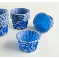 Капсулы маффин 50х40 синий дамаск 12 шт