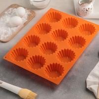 Силиконовая форма для выпечки кексов на 12 шт