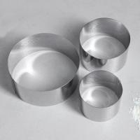Набор колец для выпечки d=10, 8, 6 см, высота 5 см