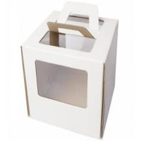 Коробка для торта с окном и ручками 26х26х28 см