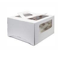 Коробка с окном и ручками 26х26х13 Белая