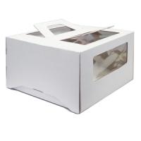 Коробка с окном и ручками 30х30х17 Белая