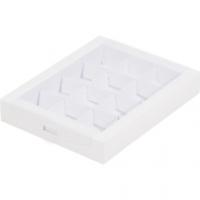 Коробка на 12 конфет с прозрачной крышкой
