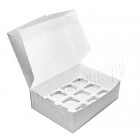 Коробка на 12 капкейков белая