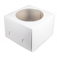 Коробка для торта 28х28х18 см С ОКНОМ
