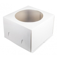 Коробка для торта 26х26х18 см С ОКНОМ