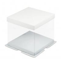 Коробка для торта Премиум 26х26х28 см белая