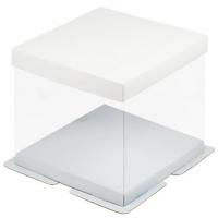 Коробка для торта Премиум 30х30х28 см белая