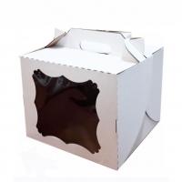 Коробка 30х30х20 см гофрокартон С ОКНОМ и ручкой