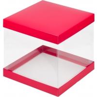 Коробка для торта 26х26х28 Красная