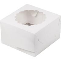 Коробка на 4 капкейк с окошком