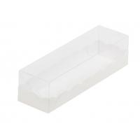 Коробка для макарон с пластиковой крышкой 19х5,5х5,5 см