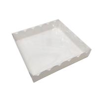 Коробка для пряников с прозрачной крышкой 20х20х3 см