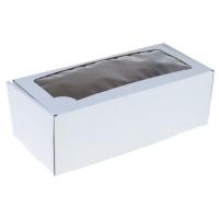 Коробка для рулета 35х16х12 см с окошком
