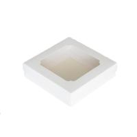 Коробка с окном белая 20х20х7 см