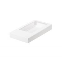 Коробка для шоколадной плитки Белая 18х9х1,7 см