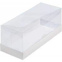 Коробка под рулет белая с пластиковой крышкой 30х12х12 см