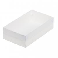 Коробка для зефира, пирожных с прозрачной крышкой 25х15х7