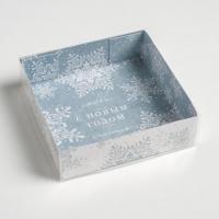 """Коробка для пряников """"Снежинки/С новым годом"""""""