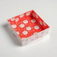 """Коробка для пряников """"Снежинки/Санта"""""""