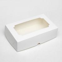 Коробка для зефира 25х15х7 см с окошком