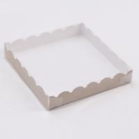 Коробка для пряников 18х18х3 крафт