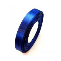 Лента атласная 1 см Синяя