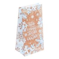 """Пакет бумажный для сладостей """"Голубые снежинки"""""""