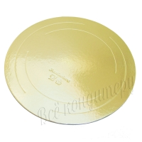 Подложка усиленная 3,2 мм d 36 см золото/жемчуг