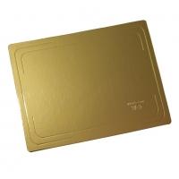 Подложка усиленная 30х40 см золото/жемчуг