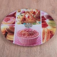 Блюдо для торта вращающееся Стекло 25 см