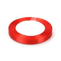 Лента атласная 1 см Красная
