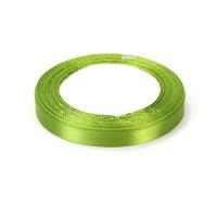 Лента атласная 1 см Зеленая