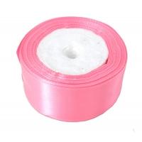 Лента атласная 4 см Розовая