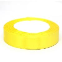 Лента атласная 2 см Желтая