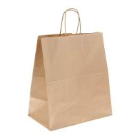 Бумажный пакет с ручками крафт 32х20х37