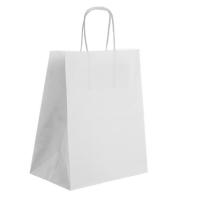 Бумажный пакет с ручками белый  24х14х28