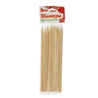 Набор шампуров 25 см 25 шт бамбуковые