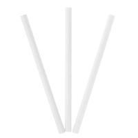 Набор трубочек для коктейлей 10 шт белые d 1 cм