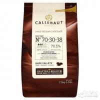 Шоколад темный (70,5%) в галетах 2,5 кг Callebaut