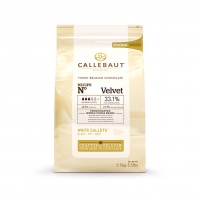 Шоколад белый Velvet в галетах 2,5 кг  Callebaut
