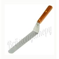 Лопатка металлическая изогнутая с деревянной ручкой 31 см