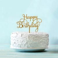 "Топпер акриловый ""Happy birthday"""