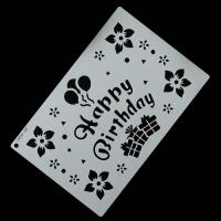 """Трафарет """"Happy Birthday"""" 29x19 см"""