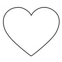 """Вырубка пластиковая """"Сердце"""" 8 см"""