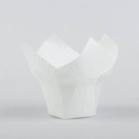 Бумажная капсула Тюльпан Белый 10 шт