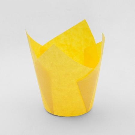 Бумажная капсула Тюльпан желтый 10 шт